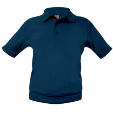 Overshirt Interlock Knit Hemmed Short  Sleeve Polo-St. Francis Embroidered Logo Included