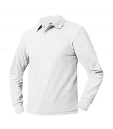 Polo Pique Long Sleeve-White
