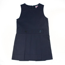 2 Pleat Jumper With High Neck Top-Navy