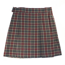 2-Kick Pleat Skirt, Front & Back-Plaid 43