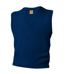 Sweater Vest V-Neck with School Logo