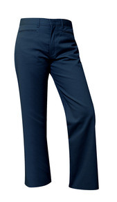 Mid-Rise Flat Front Girls Pant Half Size-Navy