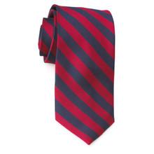 Red/Navy Stripe Tie