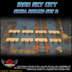 Iron Sky City Small Railing Set B