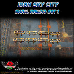 Iron Sky City Small Railing Set A