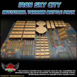 Iron Sky City Industrial Terrain Battle Pack