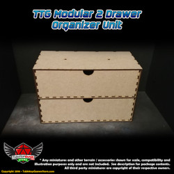 TTG Modular 2 Drawer Organizer Unit