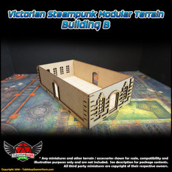 Victorian Steampunk Modular Terrain - Building Type B
