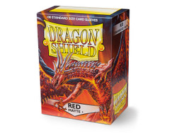 Dragon Shield Card Protectors - Matte - Red - 100 Pack