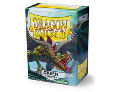 Dragon Shield Card Protectors - Matte - Green - 100 Pack