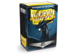 Dragon Shield Card Protectors - Matte - Jet - 100 Pack