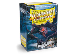Dragon Shield Card Protectors - Matte - Black - 100 Pack