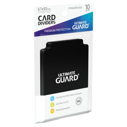 Ultimate Guard - Card Divider - Black - 10 Pack