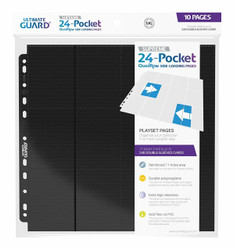 Ultimate Guard - Pages - Side Load 24-Pocket Black - 10 Pack