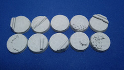 Elriks Diamond Plate Round Bases - 25mm - Round - 10 Pack