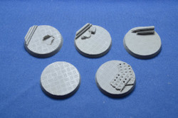Elriks Diamond Plate Round Bases - 40mm - Round - 5 Pack