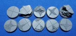 Elriks City Ruins Round Bases - 25mm - Round - 10 Pack