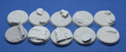 Elriks Egyptian Ruins Round Bases - 32mm - Round - 10 Pack