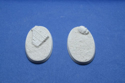 Elriks Egyptian Ruins Round Bases - 60x35mm - Oval - 2 Pack