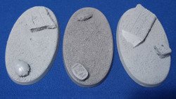 Elriks Egyptian Ruins Round Bases - 75x46mm - Oval - 3 Pack