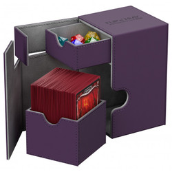 Ultimate Guard - Deck Box - Flip N Tray XenoSkin Purple - 100+