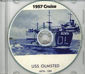 USS Olmsted APA 188 1957 Med Cruise Book on CD RARE