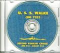 USS Walke DD 723 CRUISE BOOK 1952 - 1953 Log Korea CD
