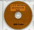 USS Brown DD 546 1951 CRUISE BOOK CD Navy Photos
