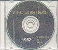 USS Adirondack AGC 15 CRUISE BOOK Log 1952 CD