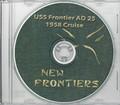 USS Frontier AD 25 WestPac CRUISE BOOK Log 1958 CD