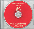 USS Montrose APA 212 1958 Westpac Cruise Book on CD
