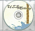 USS Midway CVB 41 1952 CRUISE BOOK CD  RARE US Navy