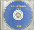 USS Monrovia APA 31 1951 Arctic Cruise Book on CD RARE