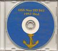 USS Noa DD 841 1952 Med Cruise Book CD