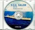 USS Salem CA 139 1956 - 1958 Med Cruise Book CD RARE