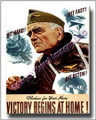 US Navy Admiral Halsey Victory WWII Canvas Print 2D