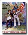 US Navy WWI Canvas Print  Make History Recruiting 2D