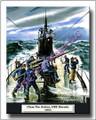 US Navy WWII 1943 Submarine USS Dorado Canvas Print 2D