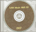 USS Altair AKS 32 1957 Med Cruise Book on CD RARE