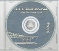 USS Blue DD 744 1958 CRUISE BOOK CD  RARE US Navy