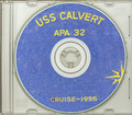 USS Calvert APA 32 1955 Westpac Cruise Book on CD RARE