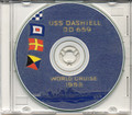 USS Dashiell DD 659 World CRUISE BOOK Log 1953 CD