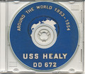 USS Healy DD 672 1953 - 54 World Cruise Book on CD