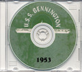 USS Bennington CVA 20 CRUISE BOOK Log 1953 CD