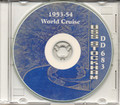 USS Stockham DD 683 1953 54 WorldCruise Book on CD
