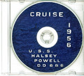 USS Halsey Powell DD 686 CRUISE BOOK Log 1956 CD
