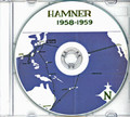 USS Hamner DD 718 CRUISE BOOK Log 1958 -  1959 CD