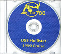 USS Hollister DD 788 1958 - 1959 CRUISE BOOK Log CD