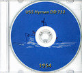 USS Hyman DD 732 1954 CRUISE BOOK Log CD