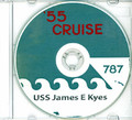 USS James E Kyes DD 787 1955 CRUISE BOOK Log CD